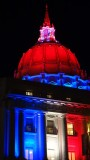 City Hall Red White and Blue