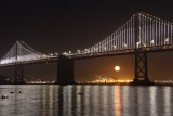 Bay Bridge Super Moon