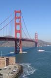 Ferry under the Golden Gate Bridge