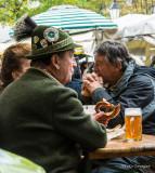 Munich Beer Garden Patron