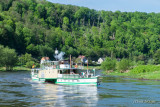 Old Steam Driven Paddle Elbe River Cruiser
