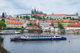 View in Prague of the Castle and St Vitus Cathedral from the Charles Bridge