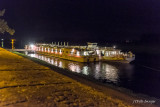 Night Docking on the Elbe River