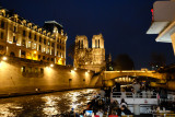 Approaching Notre Dame on the Illumination Cruise