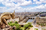 Gargoyle's View of Paris from Notre Dame - 1978