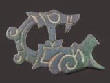 Ringerike style dragon, bridle cheekpiece, 6 cm, 10th-11th century, Essex