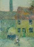 Detail from a ca 1910 water painting by Jan Gordon, showing the emerging group of workers, later developed as a teaching topic.
