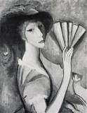MarieLaurencin Femme àl éventail DuCubisme1912.jpg