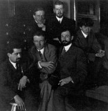 Young American artists of the modern style, Eduard Steichen (Praps in Jan Gordon's writings) second from left, ca 1911.