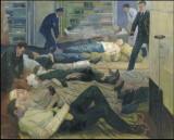 Wounded after the battle of Jutland (31st May 1916) aboard HMS Castor. Jan Gordon.