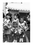 Cherry blossom cheerleaders