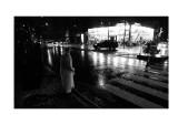 Crossing monitor in the rain