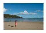 On a deserted beach, Hamilton Island