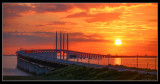 Sunset over the Öresunds Bridge