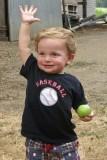 Grandson Peyton with Championship High Five
