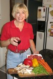 Ginny likes to cook with wine.  Sometimes she puts it in the food.
