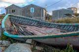 Grounded boat, Peggys Cove, Nova Scotia
