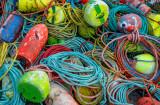 Bouys and ropes, Peggys Cove, Nova Scotia