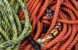 Ropes at fishing shack, Peggys Cove, Nova Scotia