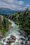 Tutshi River from the Yukon Suspension Bridge, Yukon Territory, Canada