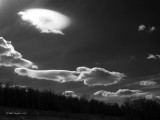 Lenticular clouds and solar backlighting