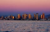 San Diego Bay at sunset