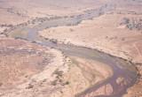 Uitzicht vanuit vliegtuig op Rufiji River