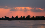 Zonsondergang op Rufiji River