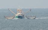Vissersboot op waddenzee