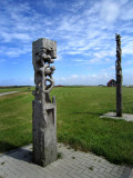 Harbour wood sculpture