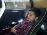 In the bus going to the airport