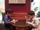 Cousins enjoying an afternoon ice creme