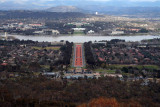 From Mt Ainslie - Looking Over the War Memorial, Down Anzac Parade and Across the Lake