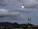 Moonrise Along  Texas RR 166