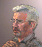 ( Pastel sur papier Canson 18 x 25 )  Portrait du regretté Max Stiebel qui fut mon maître et mentor pour le portrait au pastel.