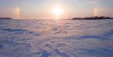 Halo boreal / Parhélie (Phénomène optique photométéores)