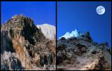 PHOTOGRAPHISME ART / LUNE peinte et montagne artificielle