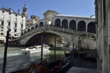 VENICE  RIALTO  BRIDGE FROM THE BACKSIDE ON A SUNNY DAY