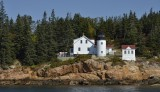 Bass Harbor Light view from the water  / Boat from Bar Harbor Maine to the Lighthouse.