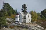Perking Head Light as seen by boat from the town of  Bath Maine -