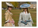 The year is 1776 popular ladies fashion