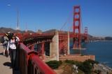 Selfie on the Golden Gate Bridge in  San Francisco