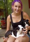 Lauren loves the puppies