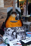 Guitar for raffle, signed by Tim and Nicki Bluhm and the rest of Brokedown in Bakersfield