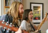 Ian Van Ornum and Dani Aubert at KZFR