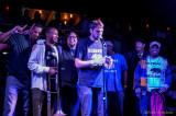 Element Brass Band receiving Sammies Jazz award