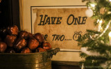 Fillmore lobby - Christmas tree and free apples