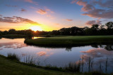 Sunset at the 18th