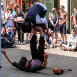 Street performers in Winchester