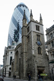City of London financial district - St Andrew Undershaft Church